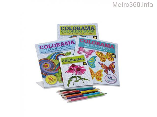 Coloring Books for Kids with Coloring Pencils